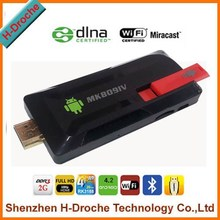 NEW MINI PC RK3188 Quad-core Andriod 4.2 Android tv dongle 2GB/8GB 3G Bluetooth Wifi MK809IV mini pc tv dongle
