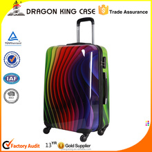 Shining PC covered, ABS body trolley luggage bag with customized sizes