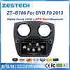ZESTECH bluetooth car audio for BYD F0 2013 with gps navigation touch screen audio/mp3/mp4/mp5 tv tuner