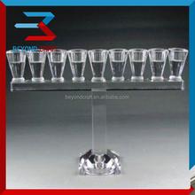 Guangzhou candle holder craft,crystal candlestick for home decoration