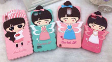 Cute cartoon girl style, popular wholesale soft silicone cover Case for iPhone6 plus