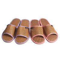 2015 Top quality excellent TPR sole flax new men summer slippers