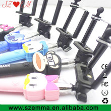 z07-5 self extendable palo selfie stick monopod wired for iphone samsung android monopad tripe monope para mono pod gopole