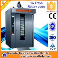 100% manufacturer 16 Trays Electric Rotary Oven Price