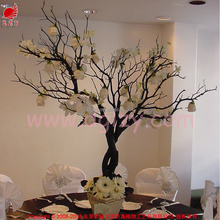 Homemade wishing tree and christmas tree for wedding table setting