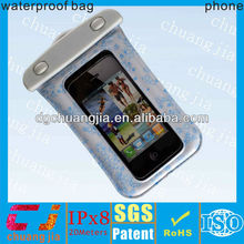 Hot sale pvc waterproof case for iphone5 with string