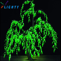 2015 outdoor artificial customized led lighted willow tree
