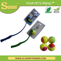 Wholesale plastic dog ball launcher/dog tennis ball thrower