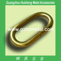 Hot sales bag accessories Metal Non Welded Oval Ring