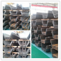 High quality U/W/Z shape SS490,MDB350, S270GP, S355GP Steel Sheet Pile mill 12 meter 18 meter for building structure