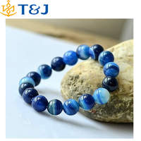 >>> Unisex Natural Agate Bracelet Aquamarine Elegant Blue Beads Bracelets Agate Gemstone Bracelet designs for girls/