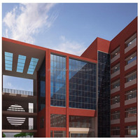 Reflective large glass panels or structural glass curtain walls