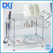 wire hanging cutlery rack plate holder for kitchen accessories
