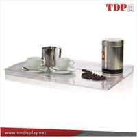 Wholesale Tabletop Clear Acrylic Lucite Bottle Serving Trays