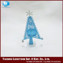 Hot selling high quality flat metal christmas ornaments