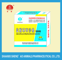 Veterinary Drugs and Medicine Ciprofloxacin Hydrochloride Injection