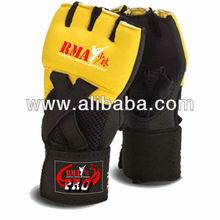 Rma Pro Industries Manufacture Martial arts MMA Gloves, Gold RMA GEL Hand Wraps - RMA Pro