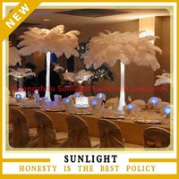 large white ostrich plume feather for centerpiece table decoration