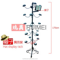 Hat Cap Display Rack Rotating Spinner Metal Frame Stand Floor