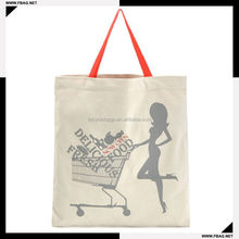 printed super quality packaging standard size cotton tote bag
