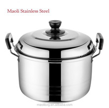 Hot Selling heat resisting Kitchenware/5 pcs American style stainless steel pots with humanized design