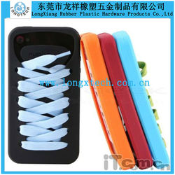 shoe shape silicone cell phone case for iphone 5