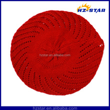 Hzm-14033 2015 brilhante pure macio de alta qualidade mulher clássico boinas vermelhas