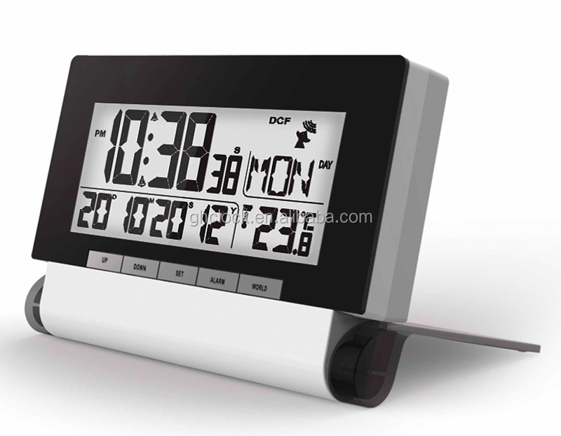 Digital Alarm Clock Radio Controlled Clock multifunction lcd clock with thermometer