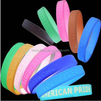 silicone bracelet rubber band wholesales customized glow in the dark wristbands