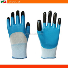 Wear Resistant Nylon Nitrile Gloves Double Color Two Dipped Nitrile Gloves Safety Gloves