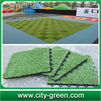 artificial football turf interlocking sports flooring