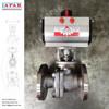 LAPAR Flanged Pneumatic Ball Valve with ACTREG Rack and Pinion Pneumatic Actuator, Motorized Ball Valve