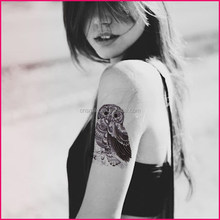 obsede 2015 body art sexy temporary black and white eagle tattoo designs on paper