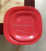Red square melamine middle east dinnerware sets