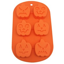 Halloween Pumpkin Silicone Baking Mold Cake Pan Cookie Pan Pudding Mold Jelly Mold