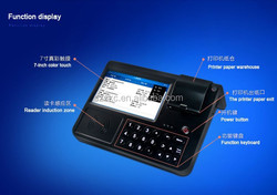 POS terminals with printer,58mm thermal printer,wireless/GSM/WCDMA/GPRS/Ethernet port free SDK