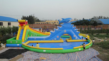 colorful animal giant inflatable slide for kids