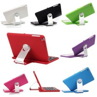 Cover Case with Swivel Rotary Stand Bluetooth Wireless Keyboard for iPad Mini
