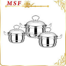 new design mirror polished stainless steel 6pcs casserole hot pot with high-arched lids MSF-3282