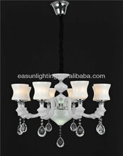 8 lights glass crystal down lamp chandelier chain&wire