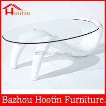special design simple style glass S shape coffee table,made in China