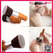 YASHI Brand custom logo Eco-friendly bamboo handle 10pcs makeup tool kit large retractable kabuki brush