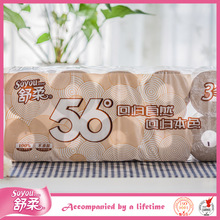 Soyou toilet paper tissue,16 gsm 3ply bathroom toilet paper