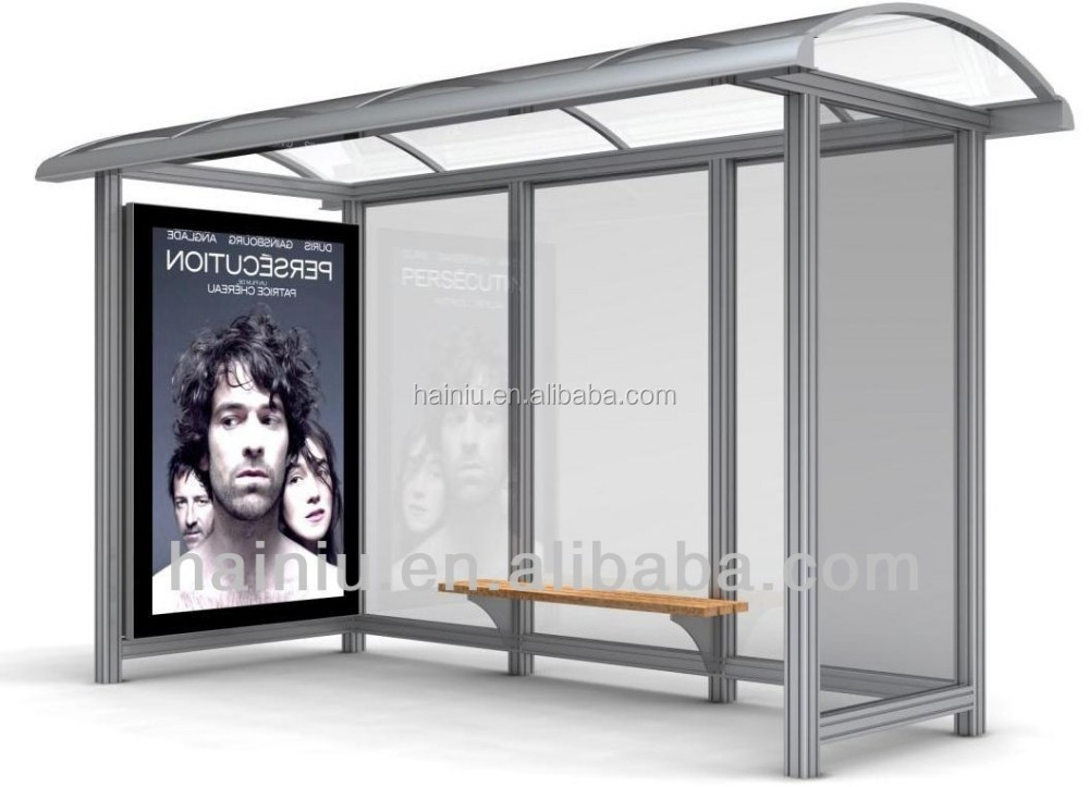 High quality customized metal bus stop shelter urban steel