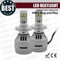 Newest Headlight 12V-24V 6000LM best Chips All-in-one Auto LED Headlight H4