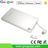 MFI 3000mAh credit card size power bank phone charger for iphone