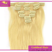 Factory directly shipping new style human hair clip in extensions clip in layer hair extension