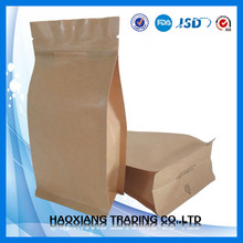 food packaging directly touch bag | ziplock stand up kraft paper bag with window and zip for 80oz
