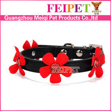 Meiqipetbaby pets accessories 2015 flower dog collar