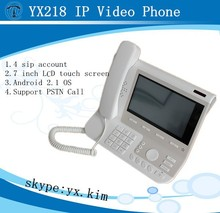 4 lines wireless desktop ip phone with android 2.1 os, desktop ip phone compatible with ip pbx, yx218